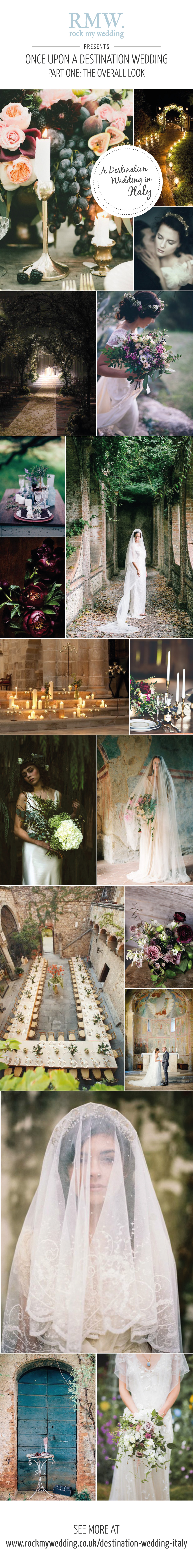 A Destination Wedding In Italy With A Romantic Gothic Theme