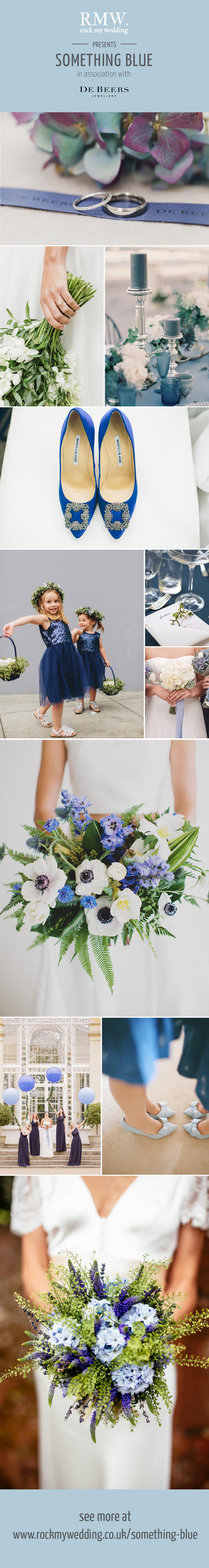 Rock My Wedding Something Blue Wedding Inspiration & Ideas in Association with De Beers Fine Jewellery