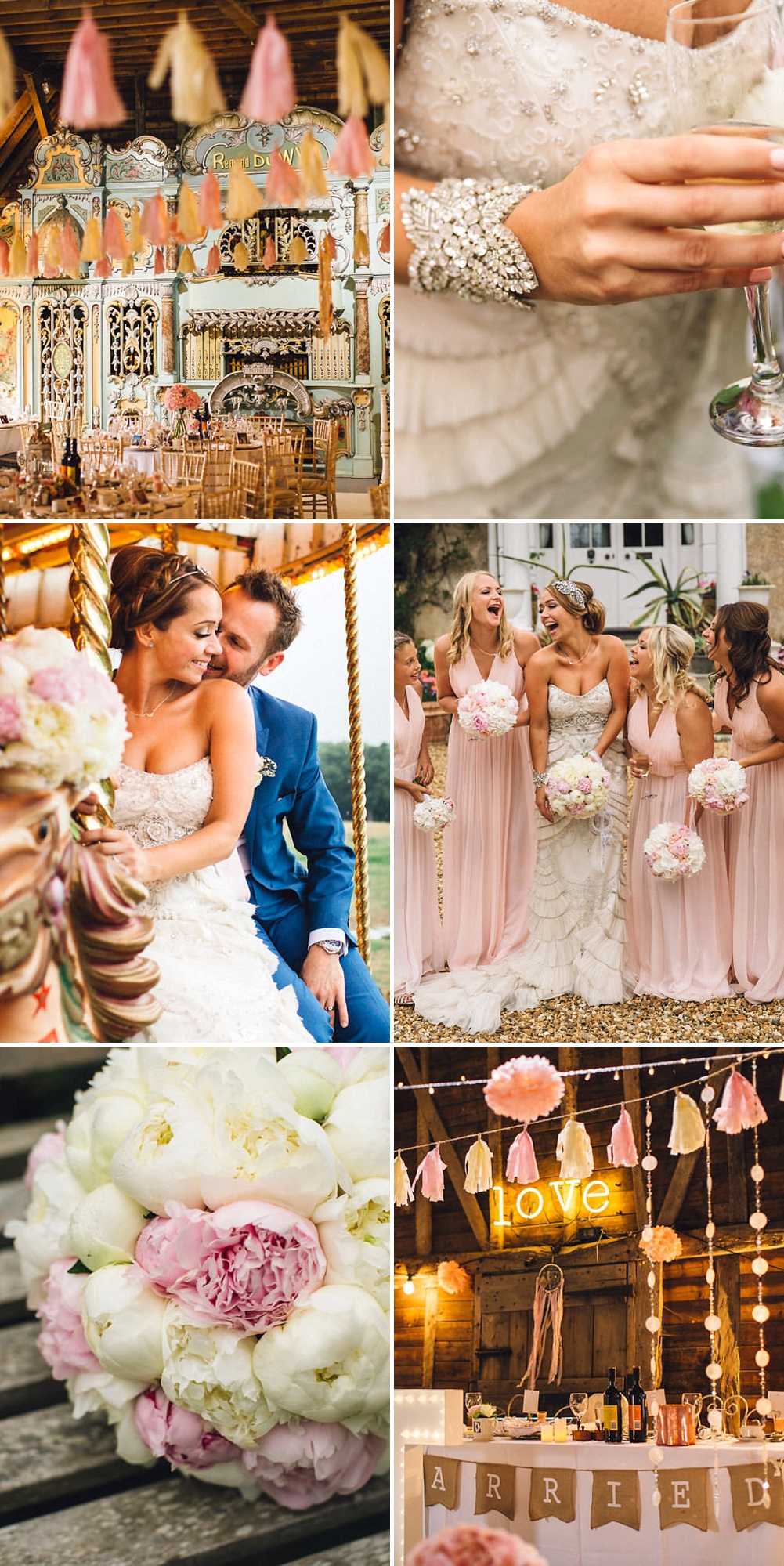 Fun Wedding With Pink Colour Scheme