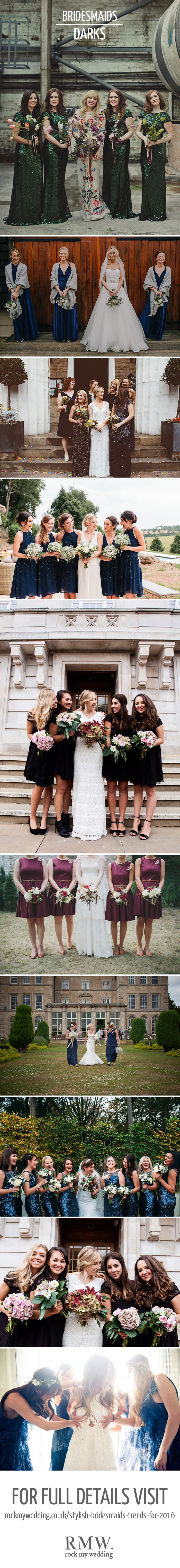 Dark Bridesmaids Dresses