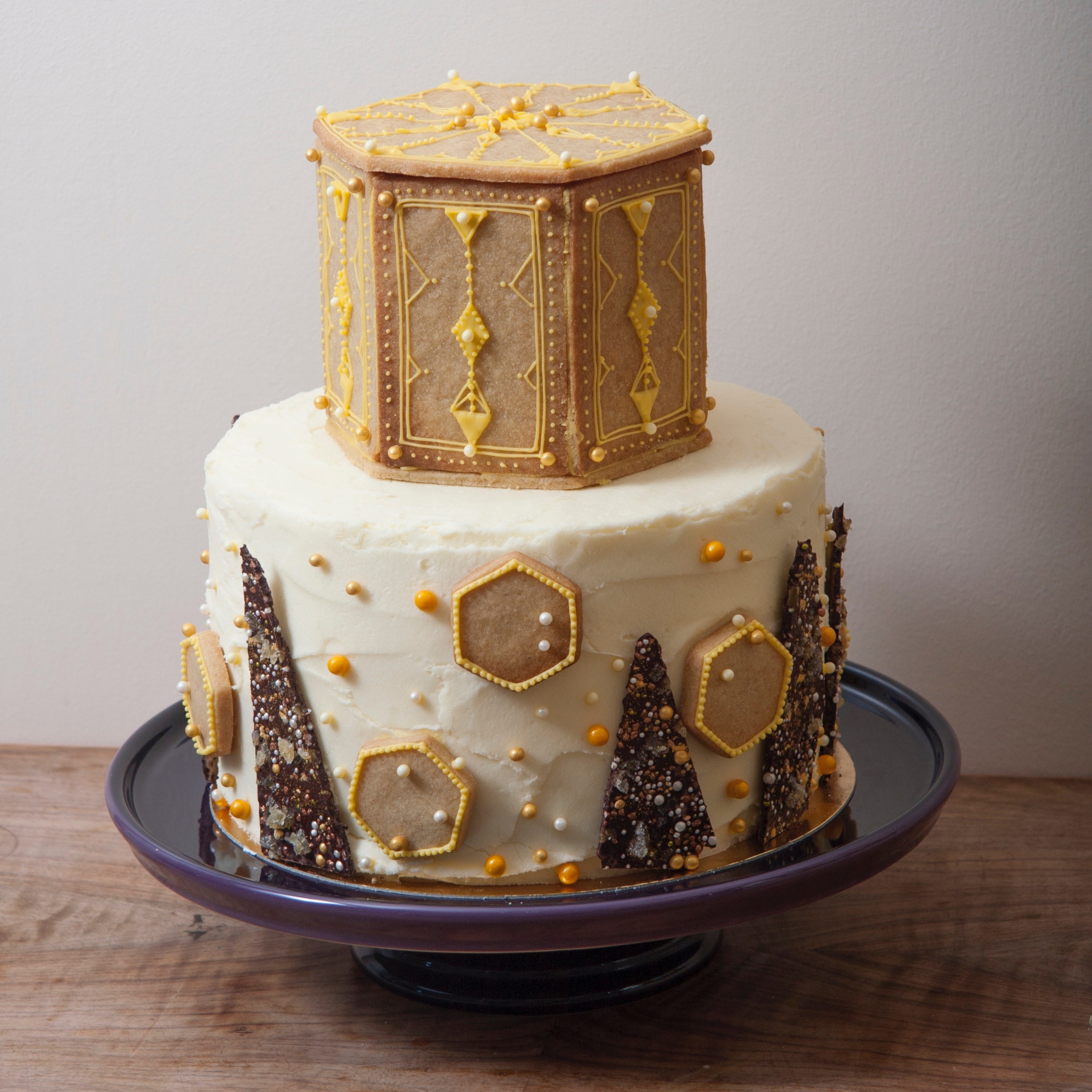 ginger tower cake