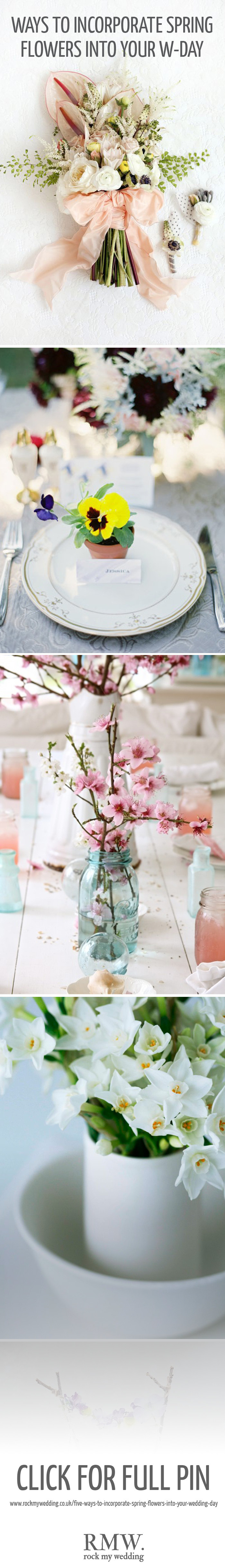 RMW Guide to Incorporating Spring Flowers into Your Wedding Day