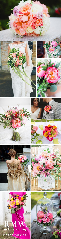 Coral Charm Peony Wedding Flowers
