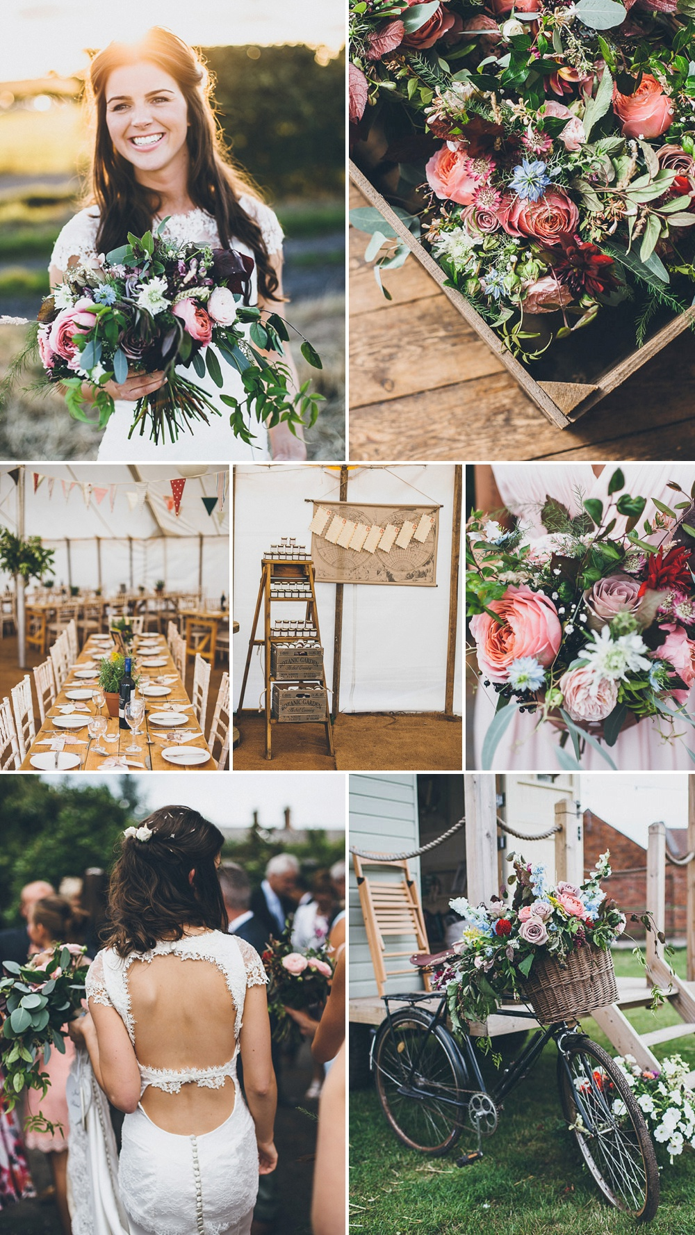 At Home Wedding With Stunning Flowers