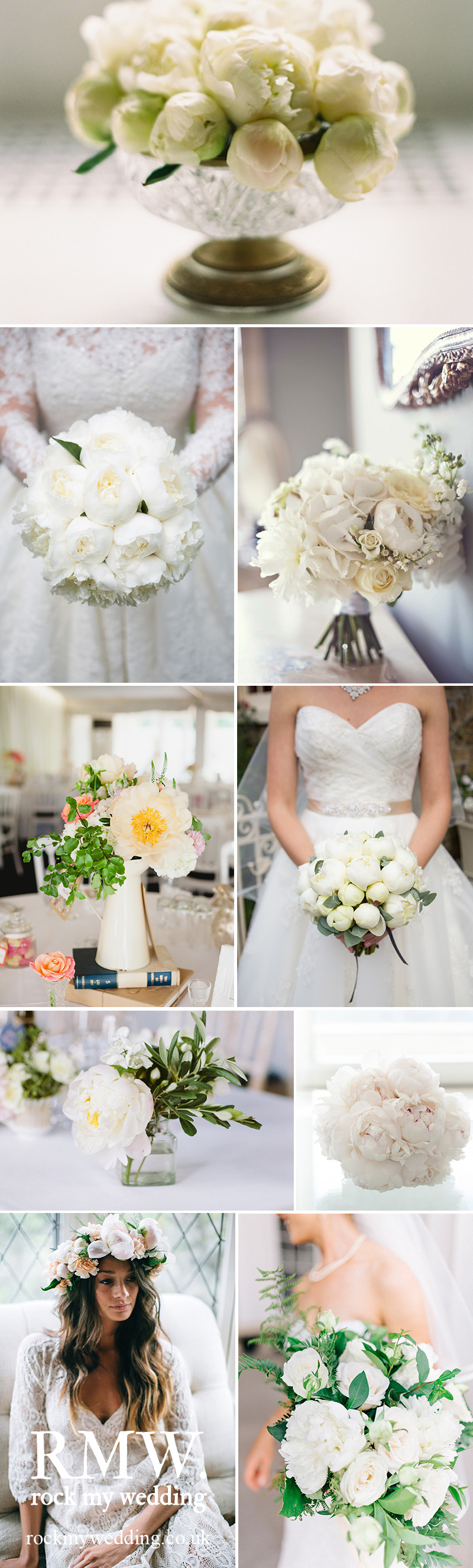White Peony Wedding Flowers