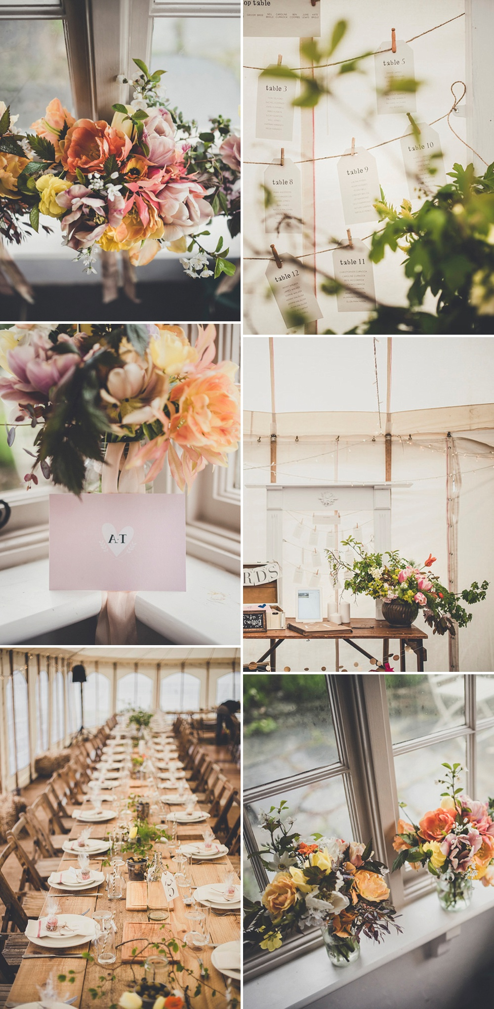 British Grown Flowers by The Garden Gate Flower Company // Rustic Wedding By The Sea