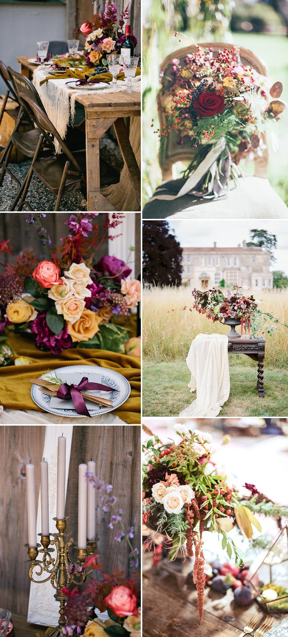 Rich Berry Tones // Autumn Wedding Styling