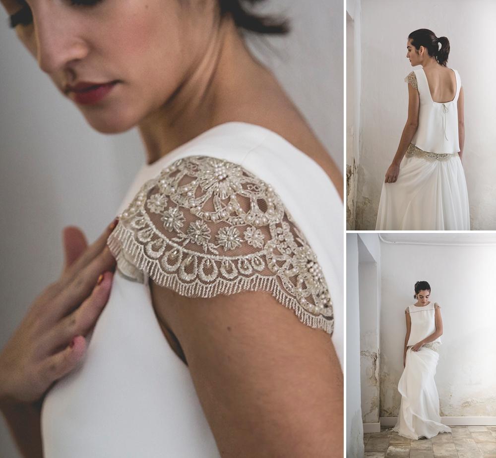 Bridal Trends for 2017 | Subtle Sequin Detailing | Wedding Dress by Alejandra Svarc