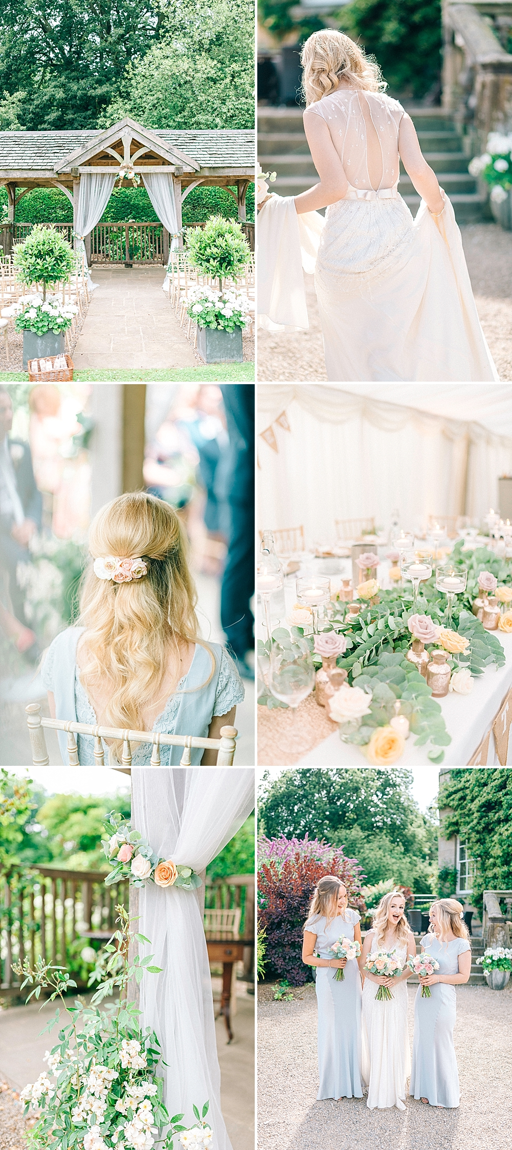 Outdoor Pastel Wedding at Middleton Lodge by Sarah-Jane Ethan Photography