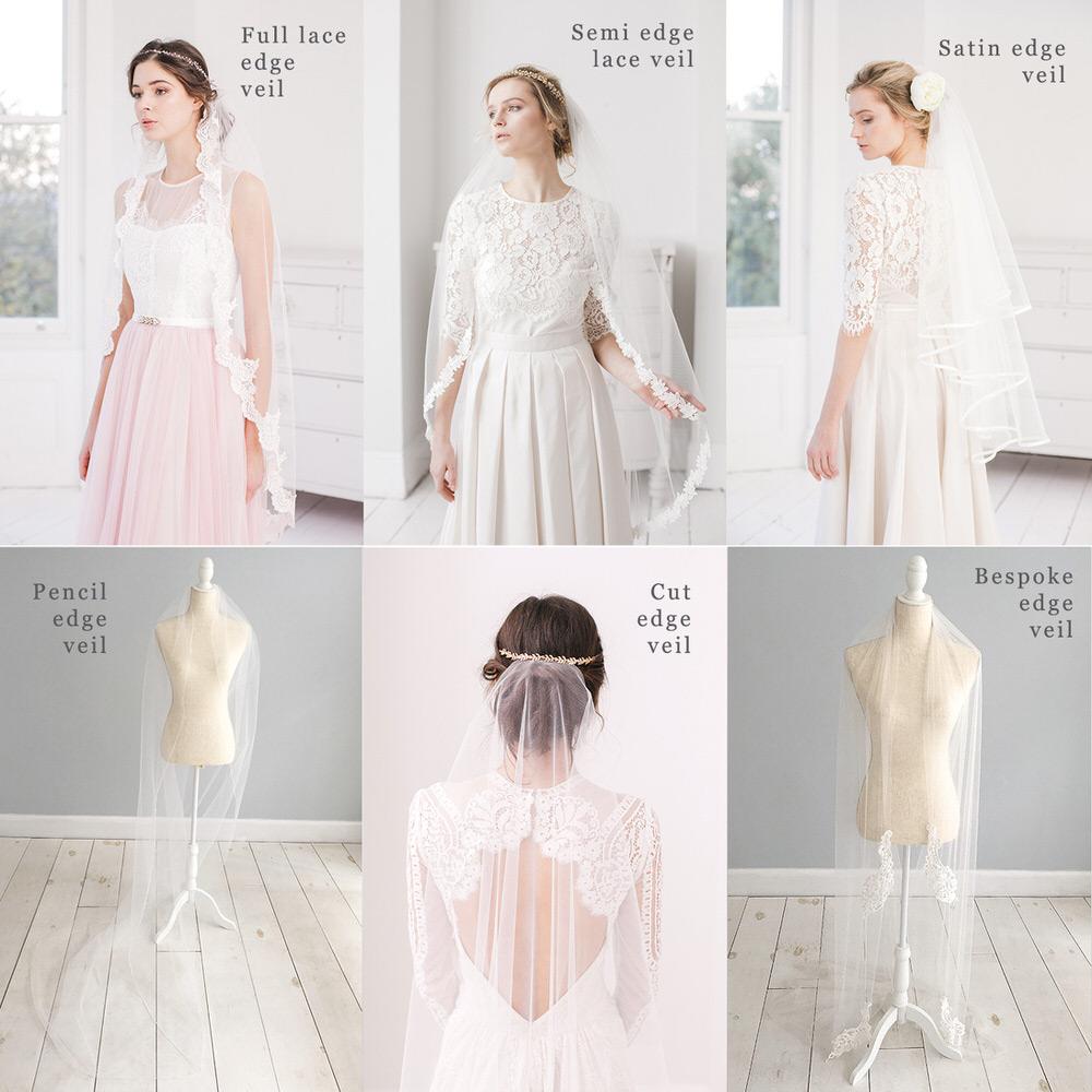 Different edgings for a Bridal Veil // Britten veil guide