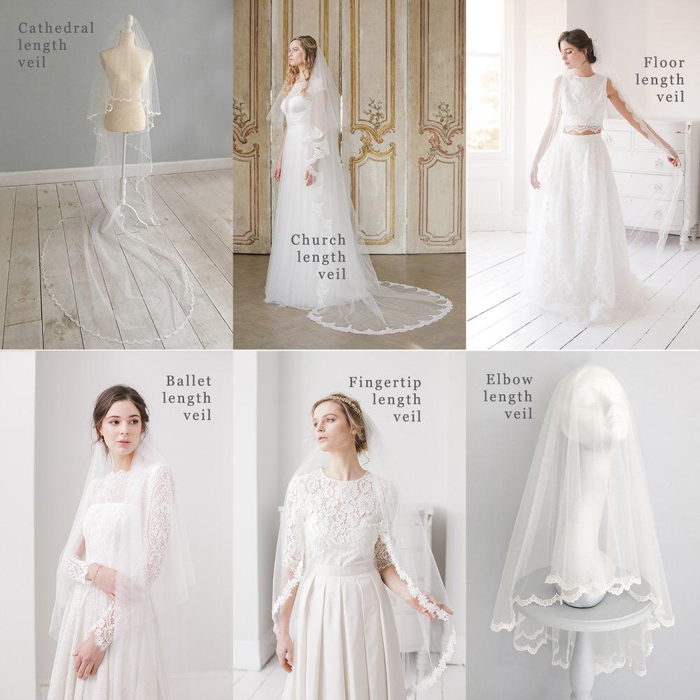 Different Lengths of Bridal Veil // Britten veil guide