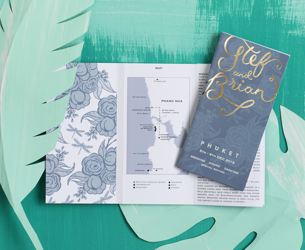 Travel Guide Inspired Invite // BerinMade