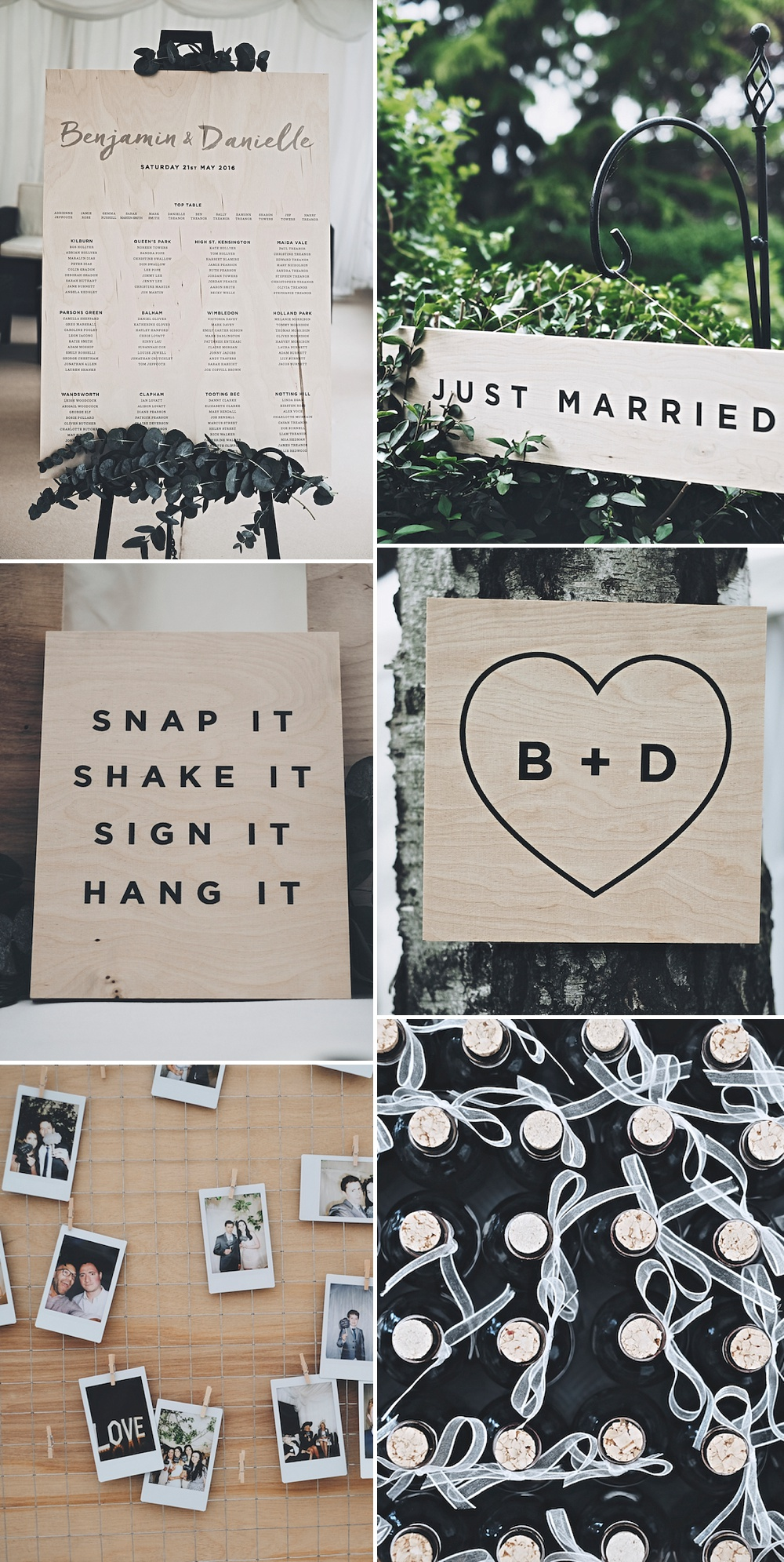 Elegant & Stylish Modern Wooden Signs For Your Wedding Day