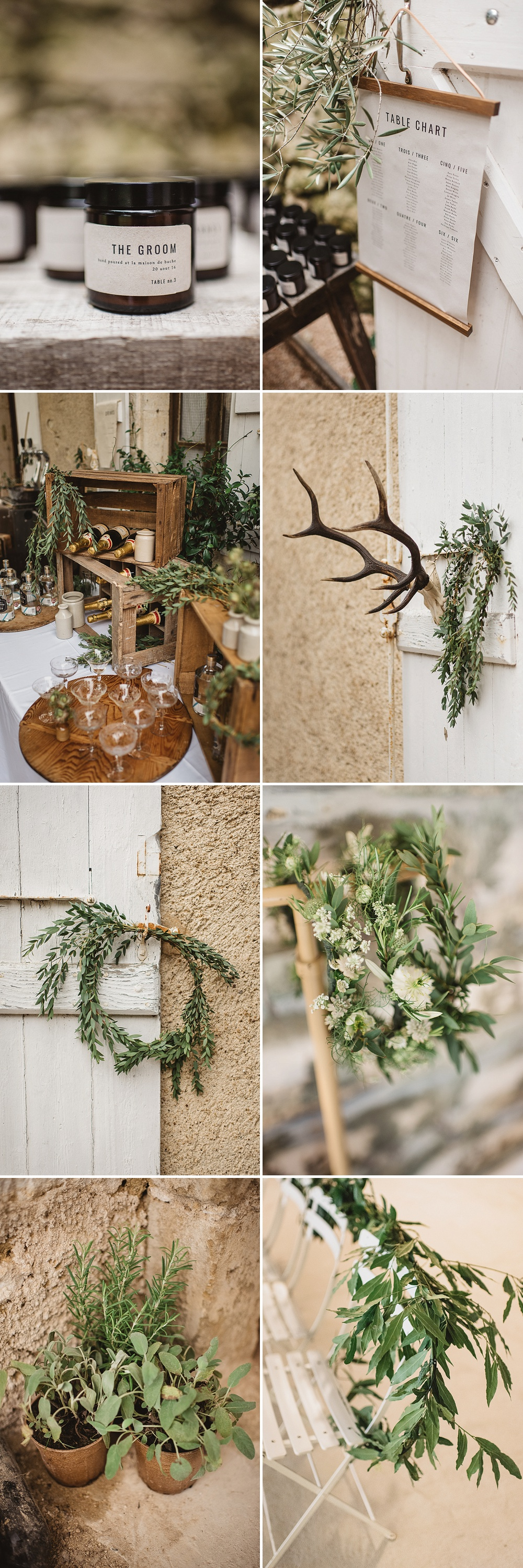 Rustic French Wedding // Greenery Inspired Wedding // Styling & Prop Hire Another Story Studio