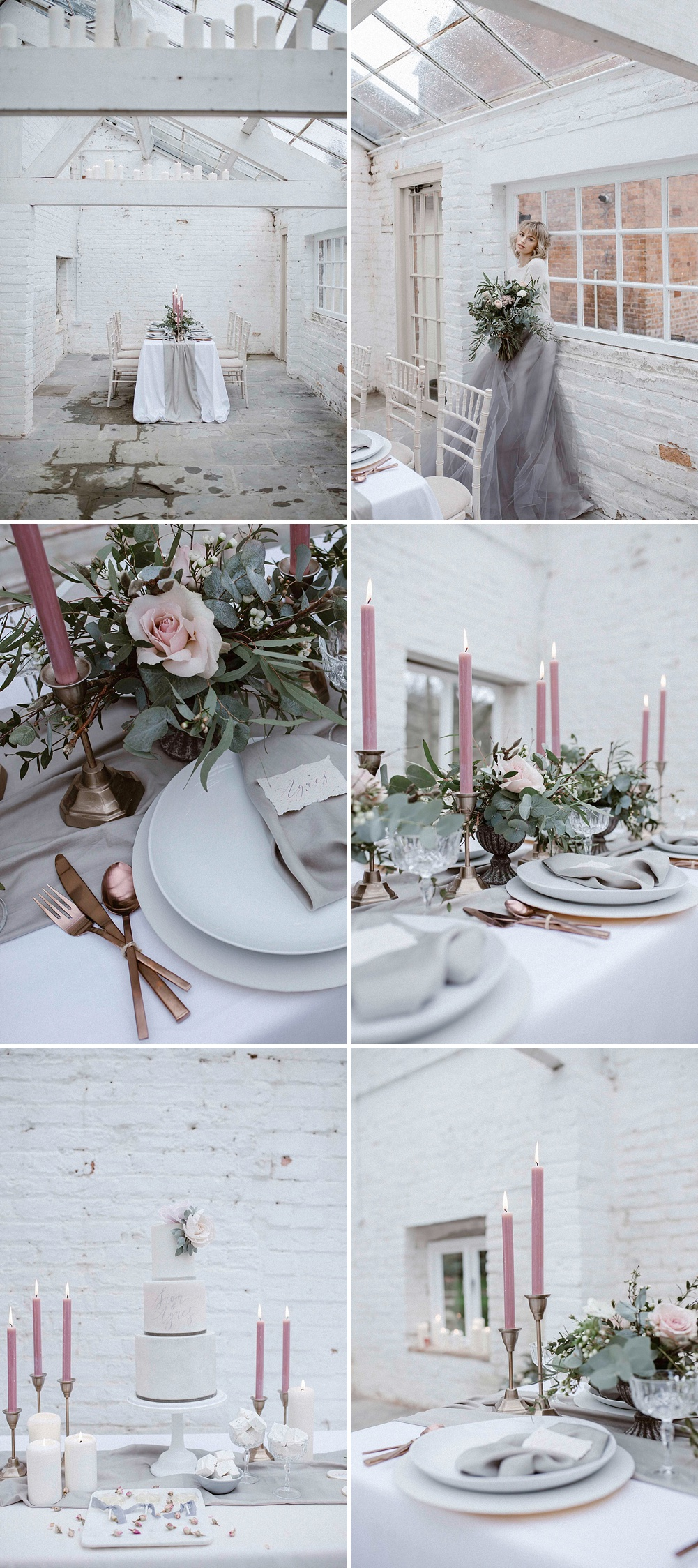 Pale Pink & Soft Grey Wedding Colour Palette