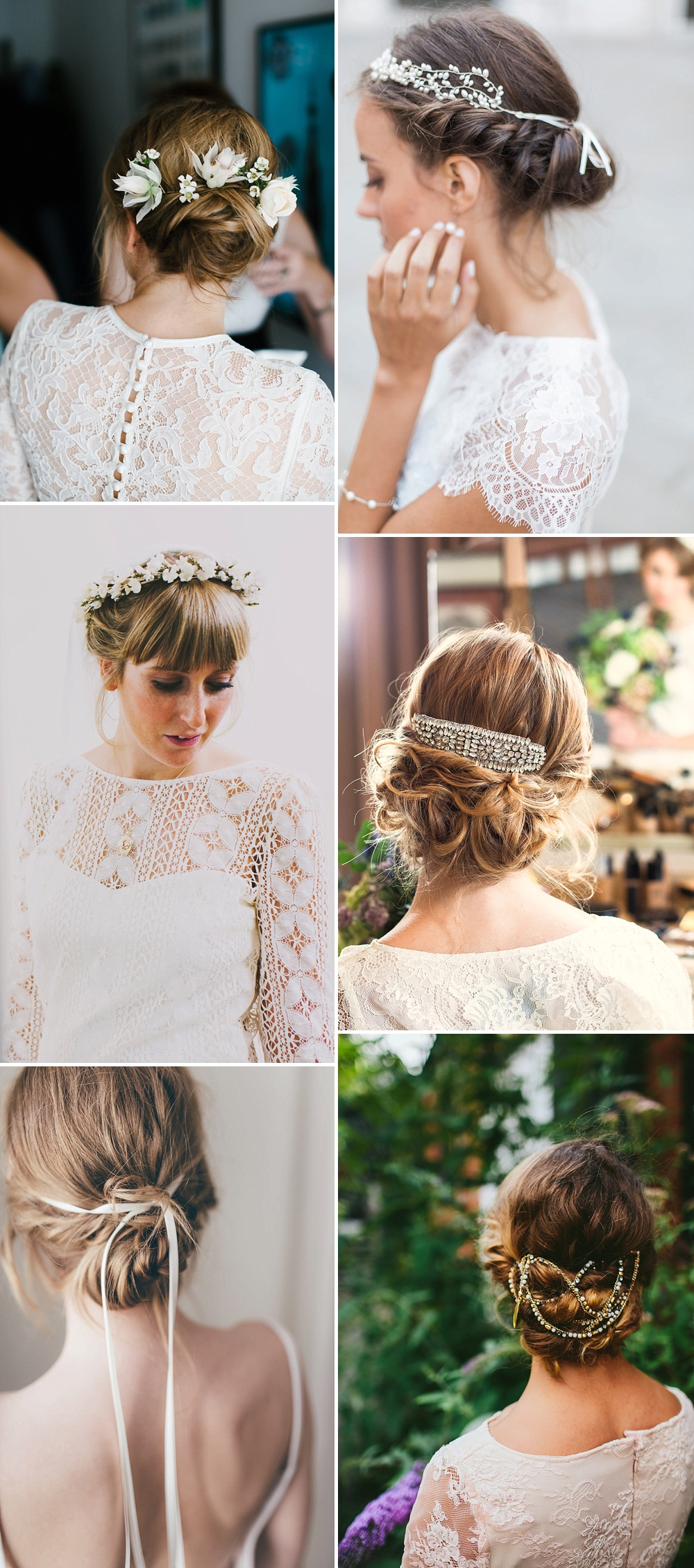 Delicate Detailed Up Do For Brides // Wedding Hair Inspiration