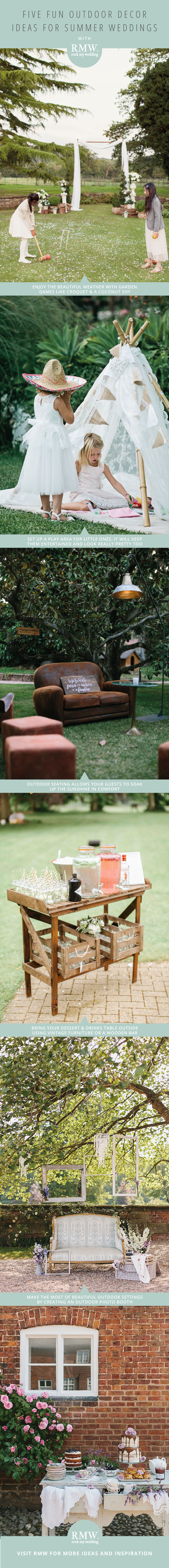 Five Fun Outdoor Decor Ideas for Summer Weddings