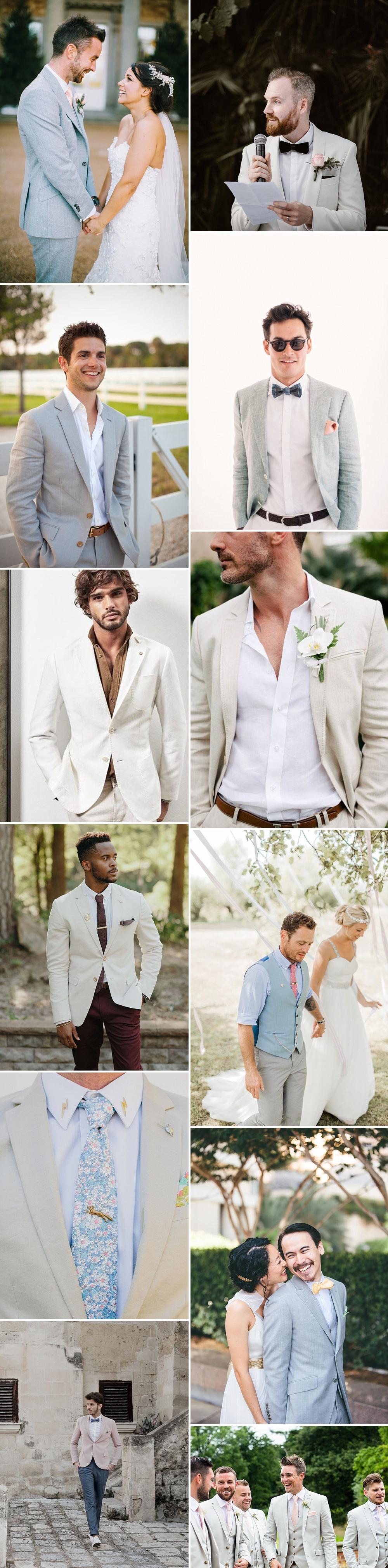 Groom Wearing Light Coloured Jacket For Wedding | Groom Fashion Inspiration