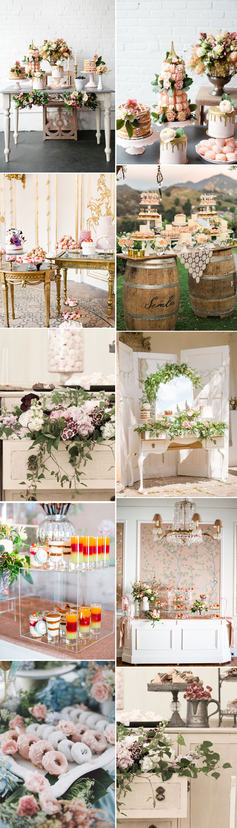 Wedding Dessert Table With A Pastel Colour Palette