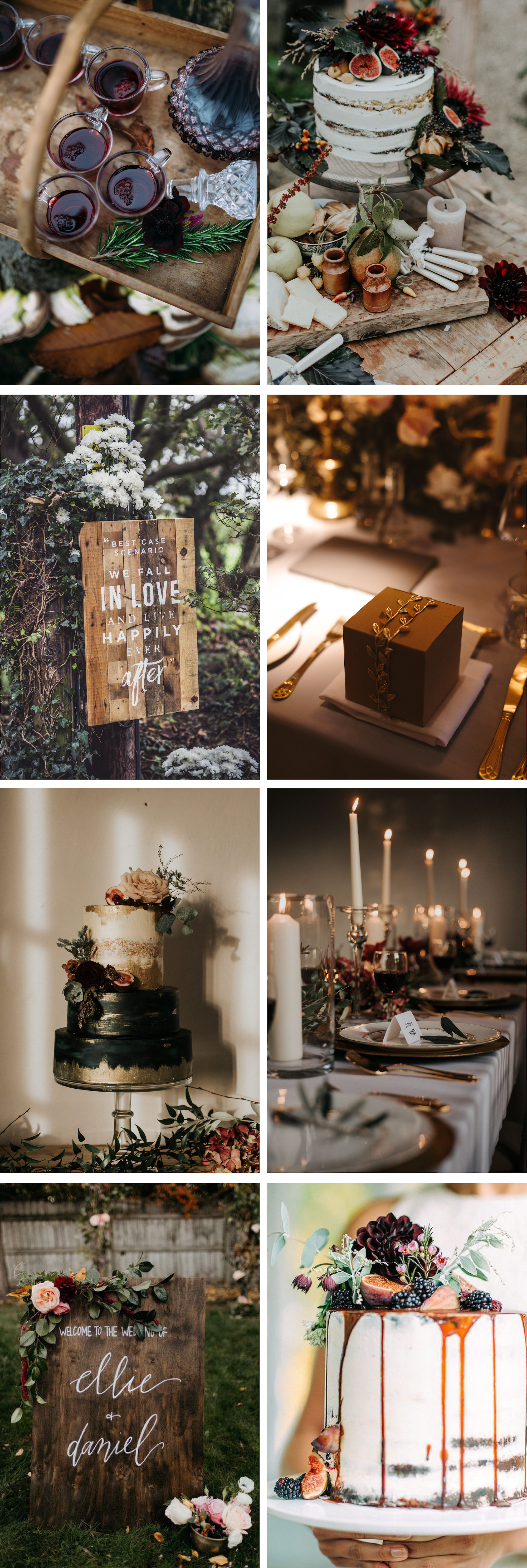 Jewel Tone and Gold Autumn Wedding Inspiration