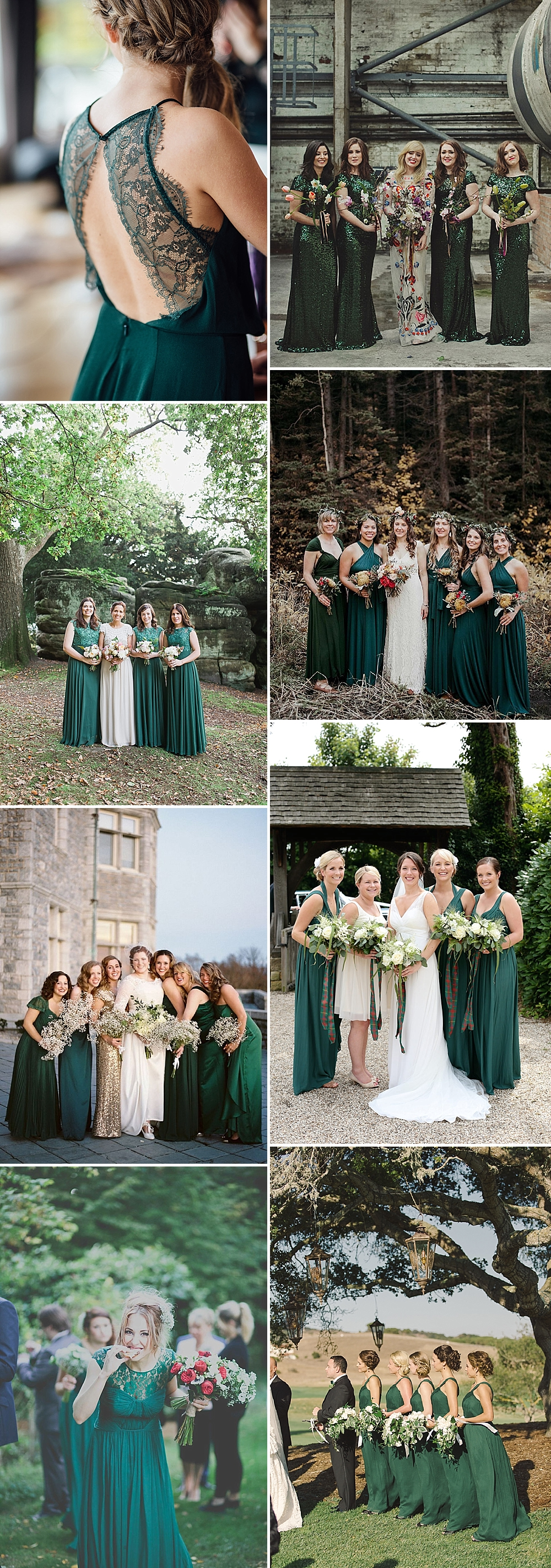Forest Green Bridesmaid Inspiration
