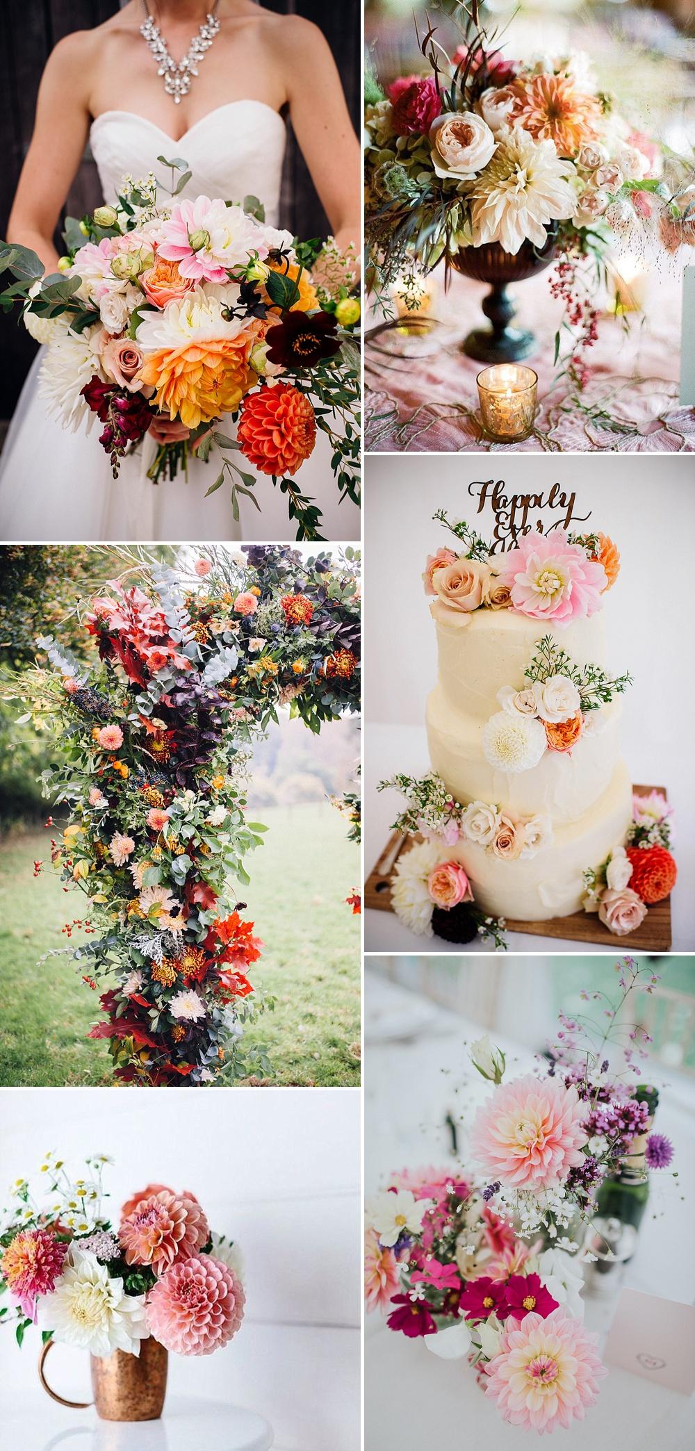 Orange & Coral Dahlia Wedding Flowers // Using Dahlias For Your Wedding Flowers