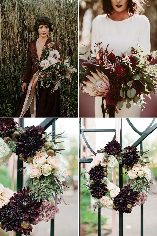 Deep Purple Dahlia Wedding Bouquet // Using Dahlias For Your Wedding Flowers