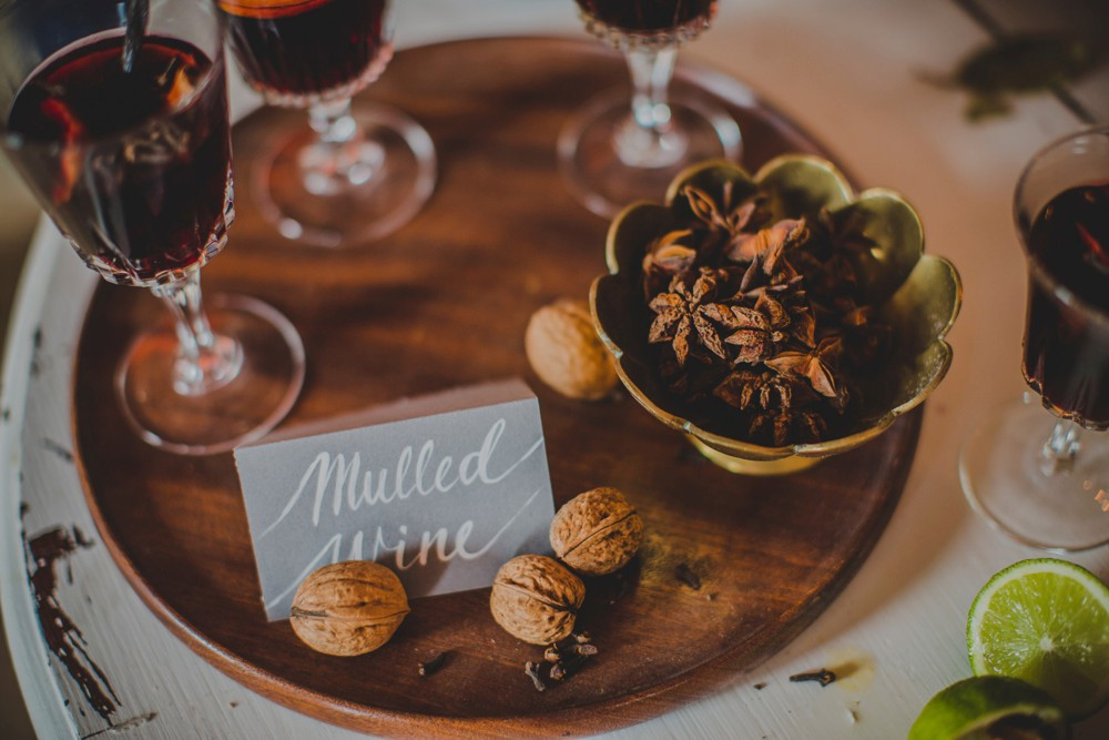 Mulled Wine Station For Winter Wedding