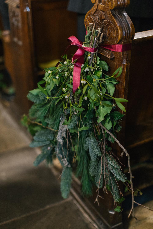 Mistletoe Decor For Winter Wedding