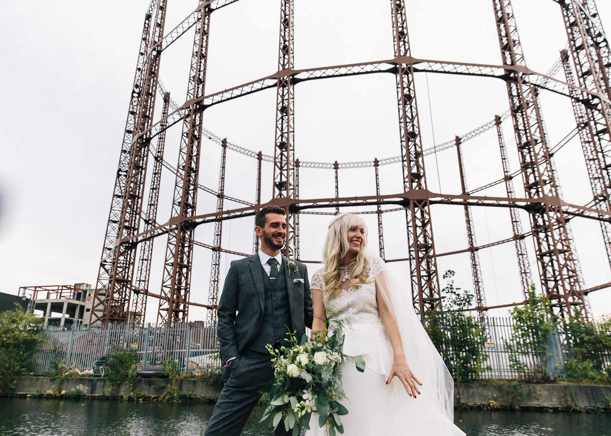 Stylish Wedding at Kachette in Urban London Planned by The Arrangers | Alice Temperley Bluebell Bridal Gown | ASOS Mint Green Lace High Low Bridesmaid Dresses | Eclection Photography