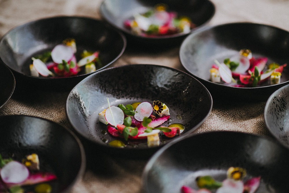 Beetroot Cured Pollock Gravadlax With Lemon Paneer From Pickle Shack // Image by Matt Austin