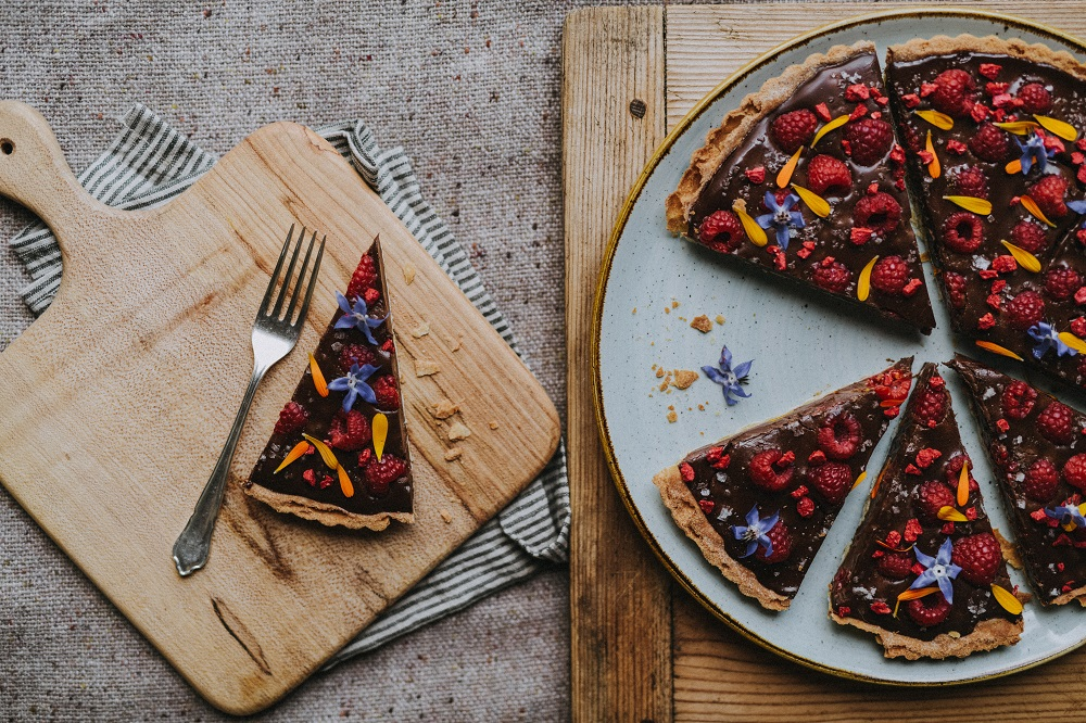 Dark Chocolate & Sea Salt Raspberry Tart From The Pickle Shack // Image by Matt Austin