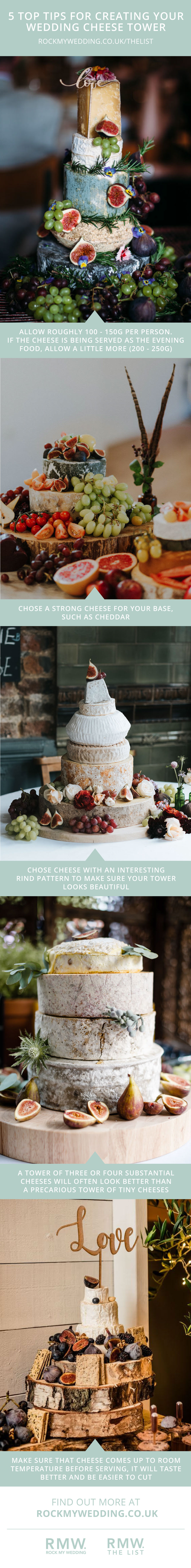 Five Tip Tops For Creating A Wedding Cheese Tower