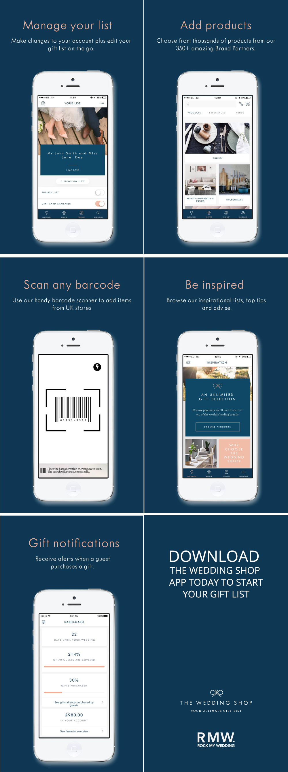 Creating Your Wedding Gift List With The Wedding Shop App