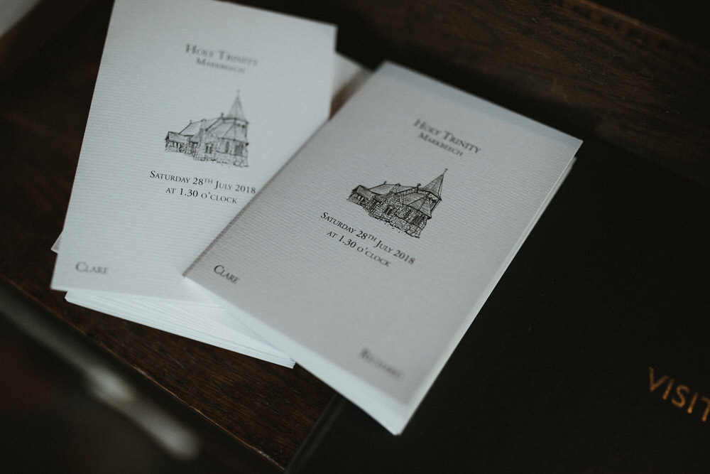 Order Of Service Cards For Wedding
