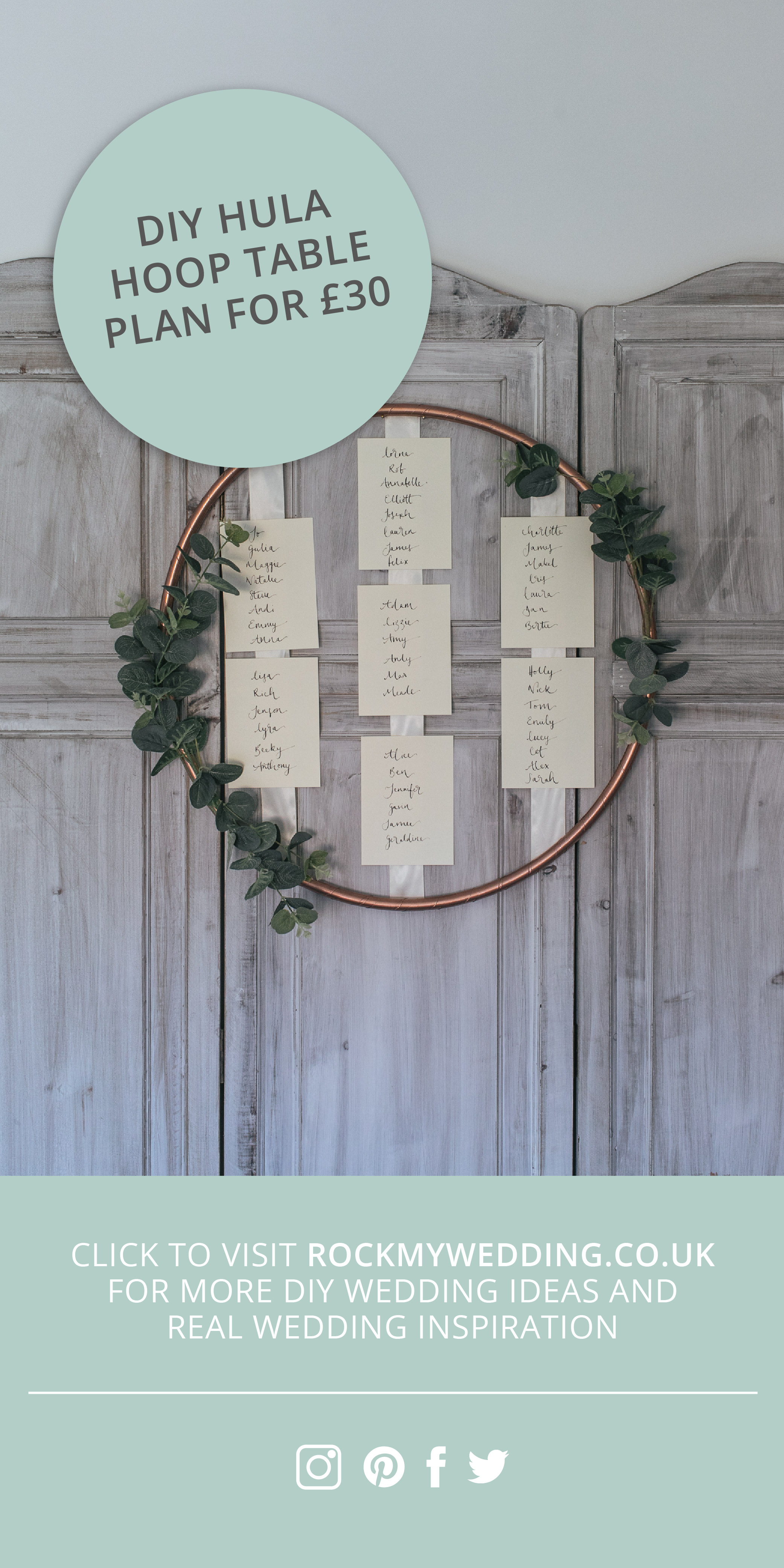 DIY Copper Spray Painted Hula Hoop Table Plan for £30