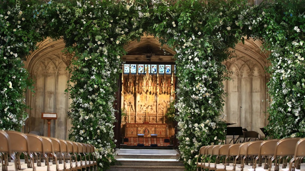 Prince Harry and Meghan Markle Wedding Flower Arch