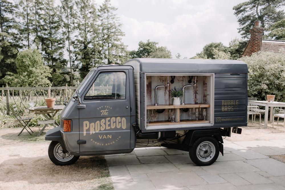 Prosecco Van by Bubble Bros - wedding details